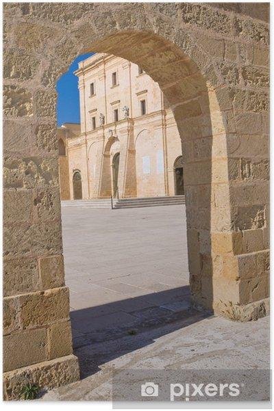 Poster Sanctuaire de Santa Maria di Leuca. Pouilles. Italie. - Vacances
