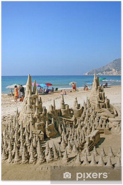 Sand Castle On The Beach Poster