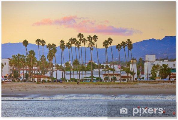 Poster Santa Barbara de la jetée - Amérique
