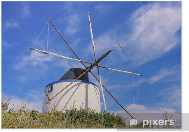 Santiago de Cacem Windmuehle - Santiago de Cacem windmill 01 Poster - Europe
