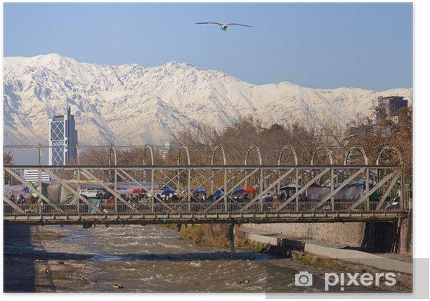 Poster Santiago en hiver - Saisons