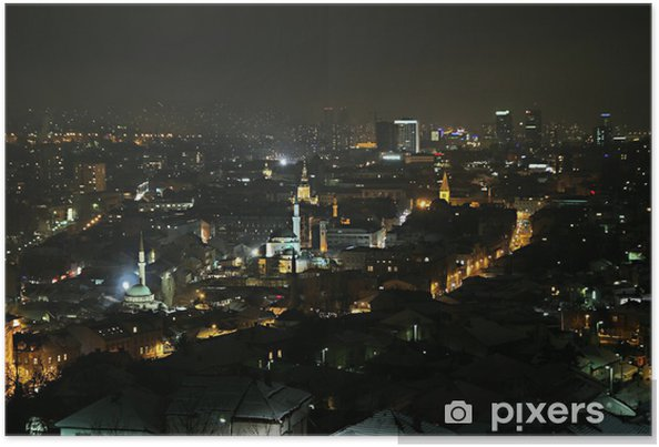 Poster Sarajevo par nuit - Europe