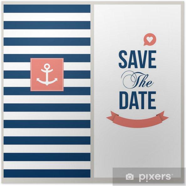 Poster Save the date, thème marin. - Célébrations
