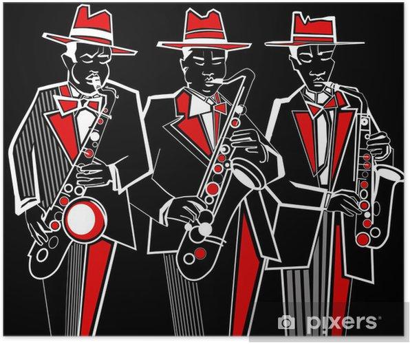 Póster Saxofonistas - Jazz