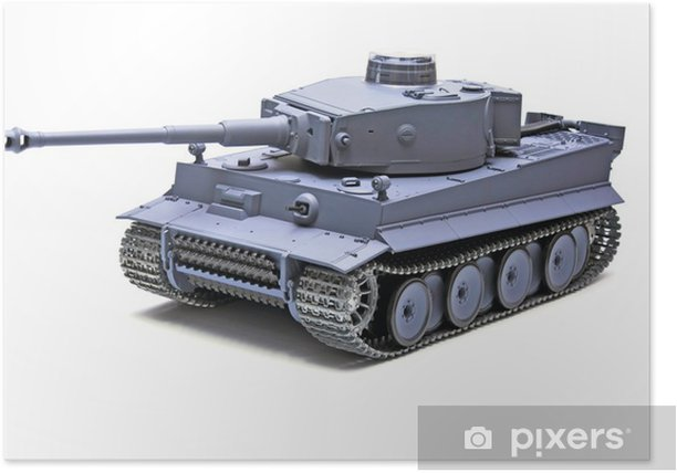 """Scale model German tank """"TIGER"""" Poster - Themes"""
