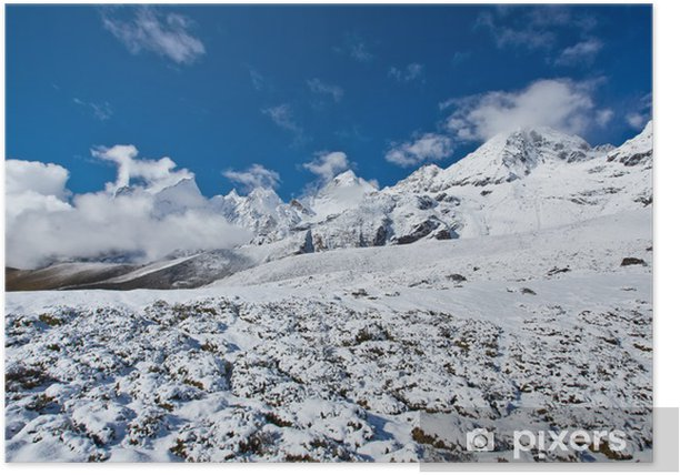 Scenic view of the Himalaya mountains Poster - Themes