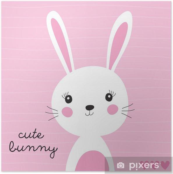 Poster Schattige konijntje vector illustratie - Dieren