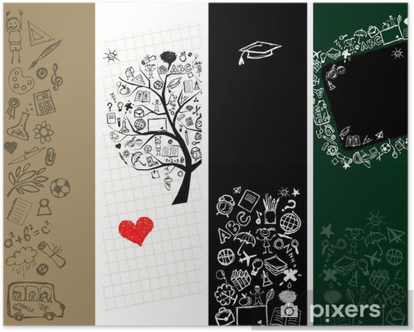 School banners design with place for your text Poster