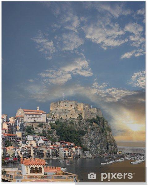 Póster Scilla, el Castillo en la roca en Calabria, Italia - Temas