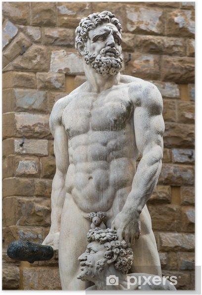 Poster Sculpture de la Renaissance à la Piazza della Signoria Florenc - Monuments