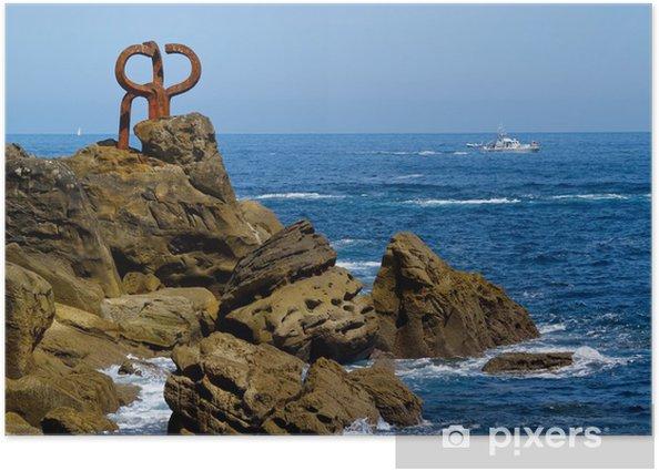 """Poster Sculptuur """"peine de los vientos"""" - Europa"""