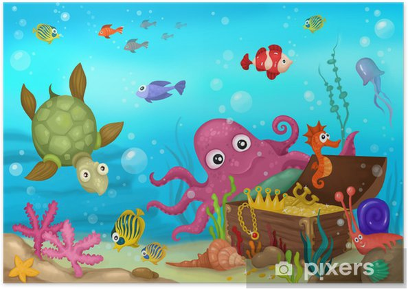Poster Sea Life - Thema's