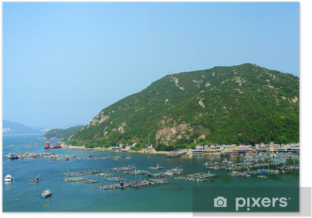 Sea view in Hong Kong from hill top Poster - Nature and Wilderness