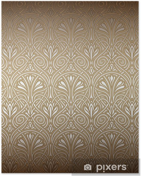 Seamless Art Nouveau Pattern Poster