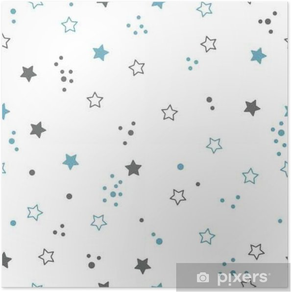 Poster Seamless avec des étoiles. Space background - Ressources graphiques