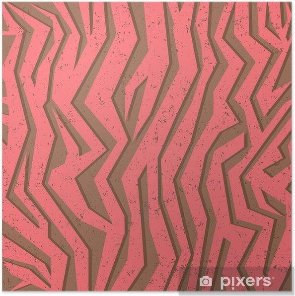 Poster Seamless coloré texture de la peau animale de zèbre - Ecologie