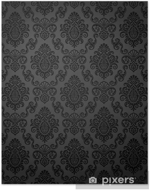 Poster Seamless Damask Wallpaper - Styles