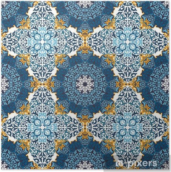 Poster Seamless dans le style ethnique mosaïque. - Art et création