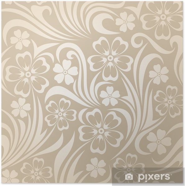 Poster Seamless floral pattern. Vector illustration. - Textures