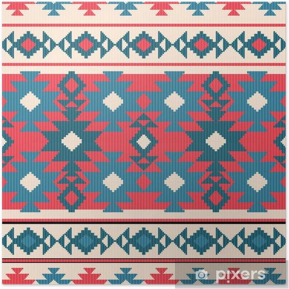 Poster Seamless géométrique dans un style ethnique - Arrière plans