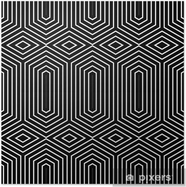 Poster Seamless géométrique. - Arrière plans