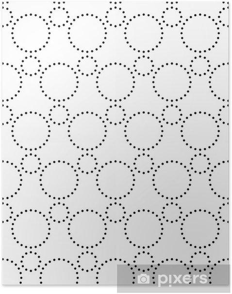 Póster Seamless Monocromo modelo geométrico - Fondos