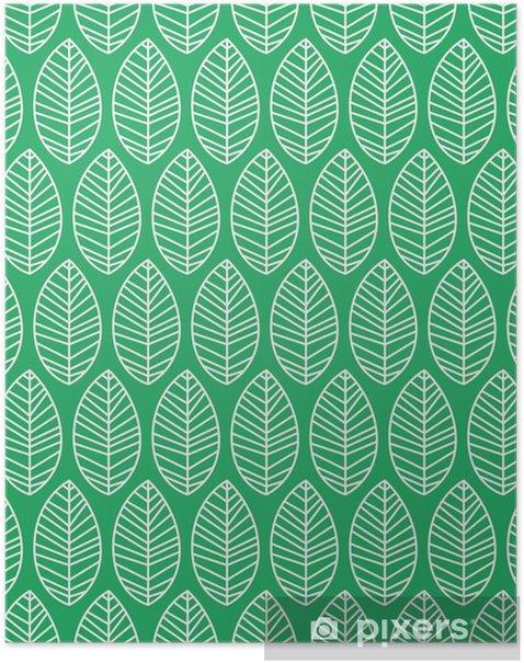 Poster Seamless pattern avec des feuilles - Plantes et fleurs