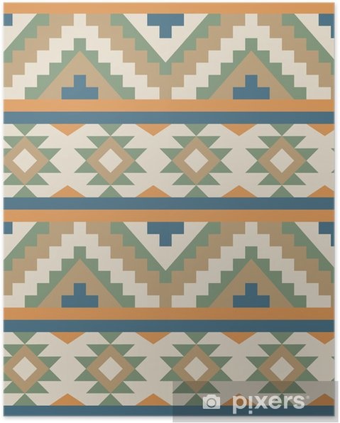 Poster Seamless pattern dans le style navajo - Styles