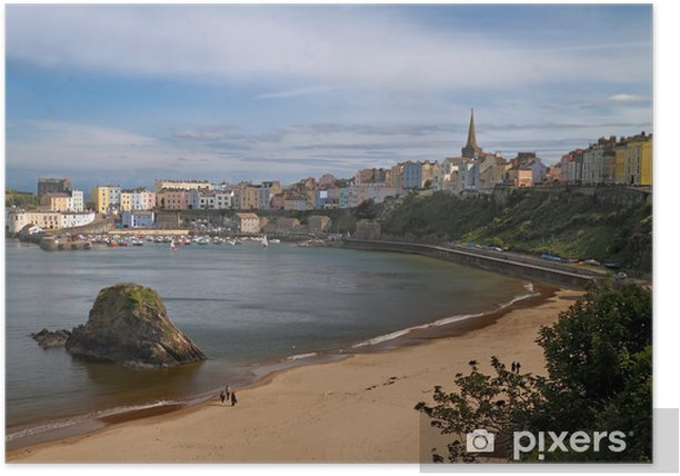 Seaside at Tenby Poster - Countryside