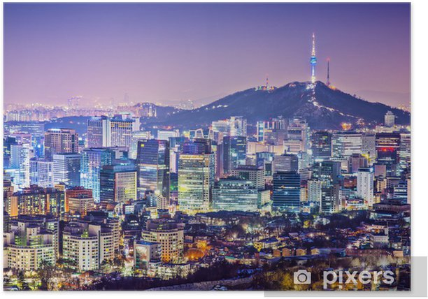 Seoul Skyline Poster - Seoul
