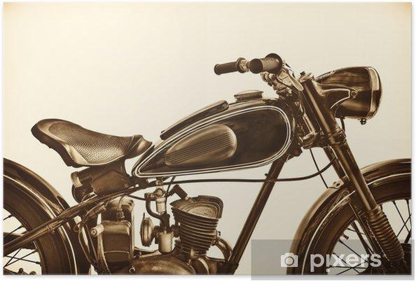 Poster Sepia afgezwakt beeld van een vintage motorfiets - Transport