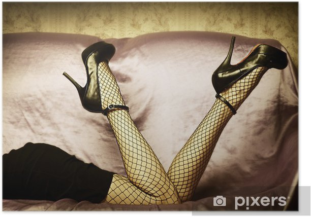 Sexy female legs in shoes Poster - Themes