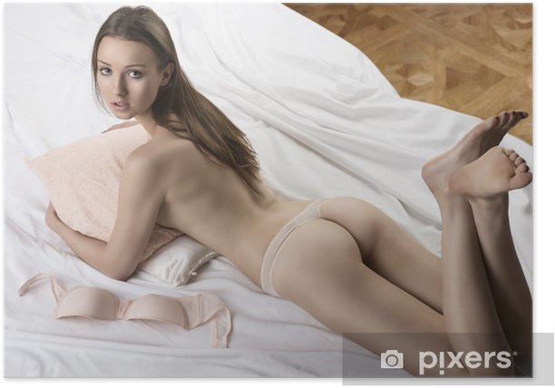 sexy white girl on bed