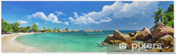 Poster Seychellen, strandpanorama - Thema's