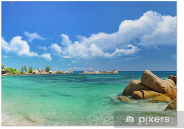 Seychelles , beach panorama Poster - Themes