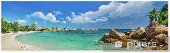 Póster Seychelles, panorama de la playa - Temas
