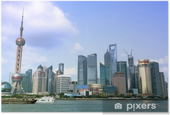 Poster SHANGHAI - 15 juin: Shanghai Pudong vue d'horizon du Bund - - Autres