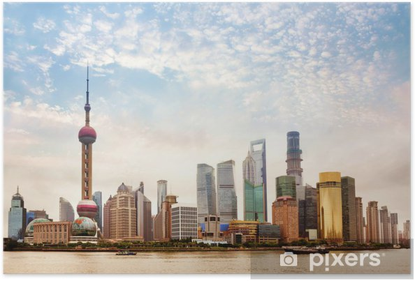 Poster Shanghai, en Chine. - Thèmes