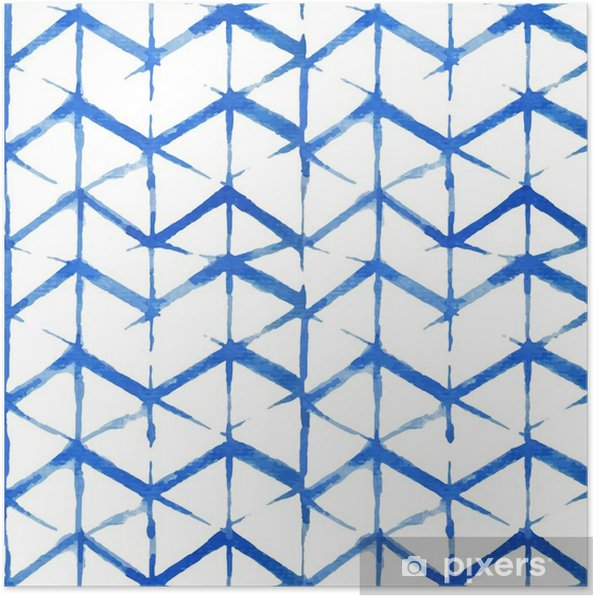 Poster Shibori indigo seamless - Ressources graphiques