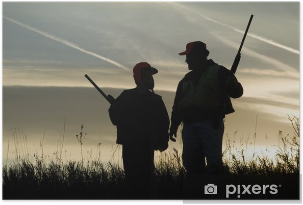 Poster Silhouette de chasse - Agriculture