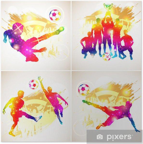 Poster Silhouette de football - Matchs et compétition