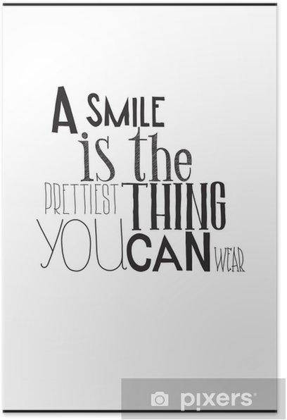 Poster Simple affiche en noir et blanc avec une expression de motivation -