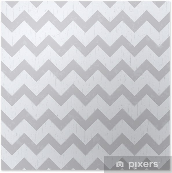 Póster Sin patrón gris chevron - Estilos