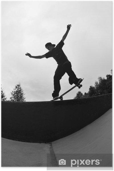 Póster Skateboarder Silhouette - Skate