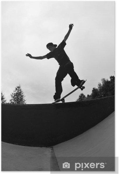 skateboarder silhouette Poster - Skateboarding