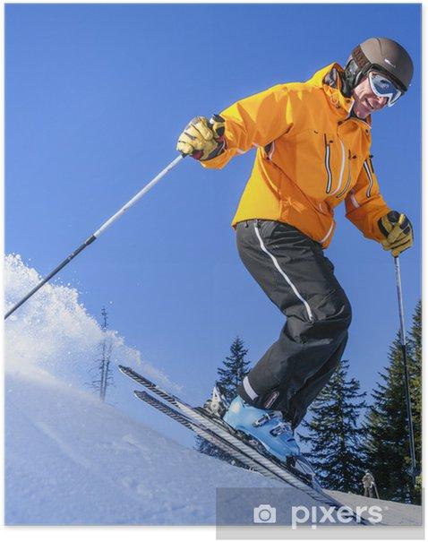Ski Alpin in Grasgehren Poster - Individual Sports
