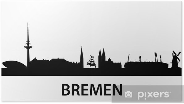 Poster Skyline Bremen - Europe