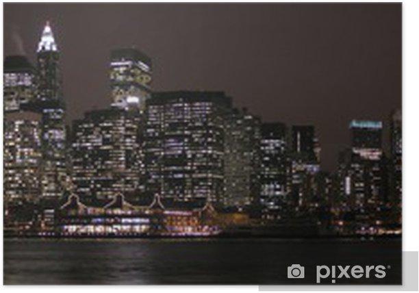 Poster Skyline du quartier financier de New York - Villes américaines