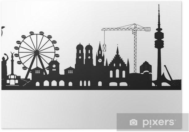 Poster Skyline Munich - Passe-temps et loisirs