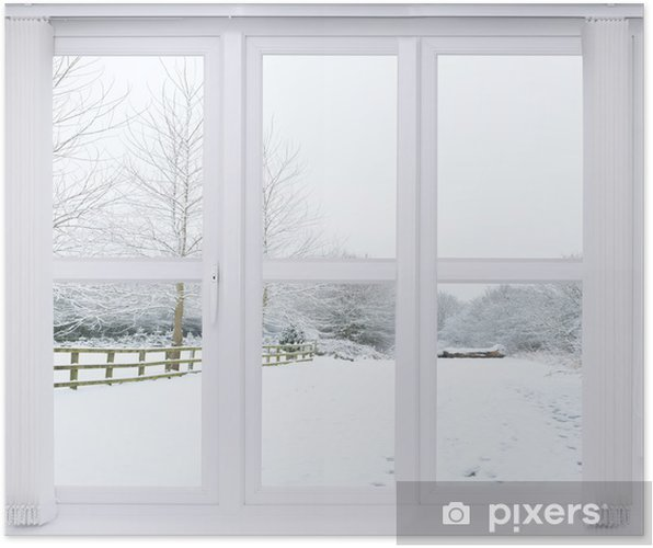 Poster Snow Scene fenêtre - Thèmes